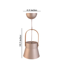 Load image into Gallery viewer, Metal Pendant Light E27 Base Luxury Gold with Wood Handle