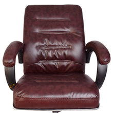 Load image into Gallery viewer, Starry Night Classic Leather-Padded Mid-Back Office Chair with Armrest - Brown