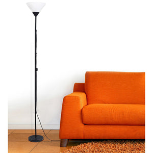 1 Light Torchiere Floor Lamp, Black