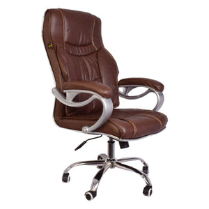 High-Back Brown Executive Swivel Chair with Design Armrest-Starry Night