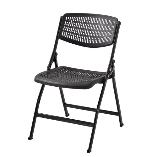 Black Mesh Folding Chair Pack of 1-Starry Night
