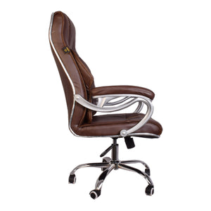 Starry Night High-Back Executive Swivel Chair with Armrest, Brown
