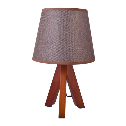 Small Table Lamp, Brown Tripod Table Lamp