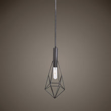 Load image into Gallery viewer, Geometric Pendant Light 1 E27 Bulb, Black
