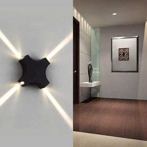 Outdoor LED Up and Down Wall Lamp-Starry Night