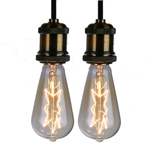 Star Shape Edison Bulb Pack of 2 Bulbs, 40 Watt, Dimmable