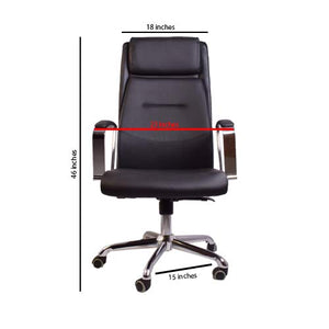 High-Back Executive Chair - Black