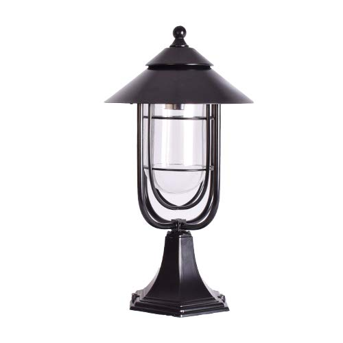 Outdoor Post Pillar Lantern Light E27, Black