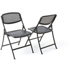 Load image into Gallery viewer, Black Mesh Folding Chair Pack of 1