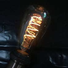 Load image into Gallery viewer, Spiral LED Filament Bulb ST64 Gold Tinted Glass 4 watt-Starry Night