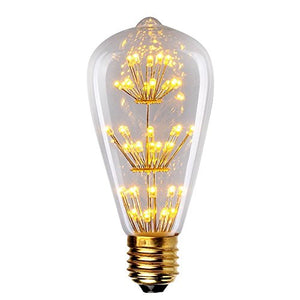 LED Warm White Decorative Edison Bulb-Starry Night
