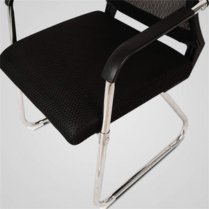 Office Visitor Chair with Medium Mesh Back Breathable Foam Pad and Robust Steel Base