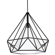 Load image into Gallery viewer, Diamond Shape Black Pendant Light with White Shade-Starry Night