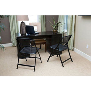 Black Mesh Folding Chair Pack of 1