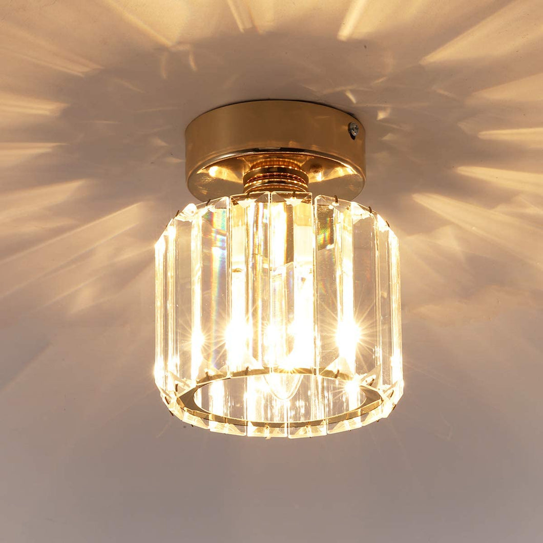 Modern Crystal Ceiling Light Fixture, Round