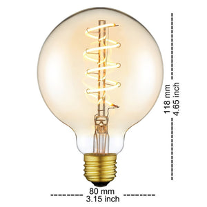 Vintage Glass LED Edison Bulb with Flexible Filament 4W - Warm White