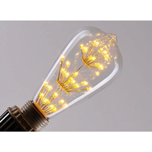 3 watt Edison Style Vintage Led Decorative Light Bulb, 2200K Warm Color