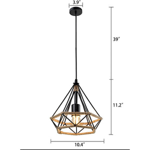 Rope Diamond Pendant Light