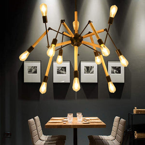 Adjustable Arms Modern 12 Light Chandelier
