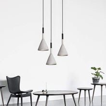 Load image into Gallery viewer, Concrete Ceiling Pendant Lamp Light of Nordic Art (Grey Color)