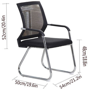 Office Desk Chair, Meeting Chair, Visitor Chair with Mesh Back Breathable Foam Pad and Robust Steel Base