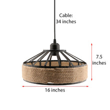 Load image into Gallery viewer, E27 Base Manila Rope Twined Pendant Lampshade Frame Iron Wire Ceiling Chandelier Hanging Lightshade
