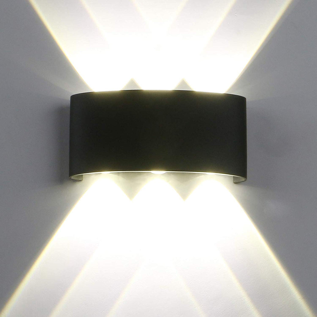 Waterproof Outdoor Wall Lamp, 6W LED IP65-Starry Night