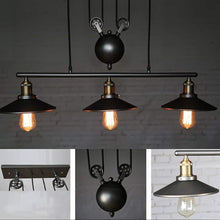 Load image into Gallery viewer, Retro Pendant Retractable Chandelier Light Adjustable Lamp 3 Head