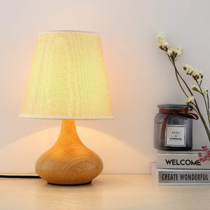 LED Side Table & Desk Lamp – Light Brown Modern Style Lamp