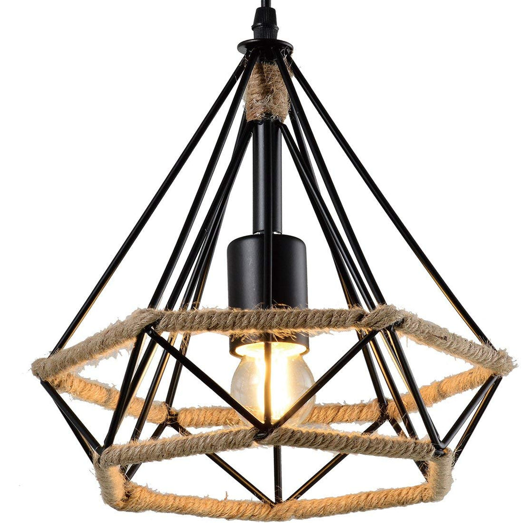 Rope Diamond Pendant Light-Starry Night