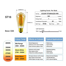 Load image into Gallery viewer, Edison Style Vintage LED Filament Light Bulb, E27 8 watt, Non-Dimmable