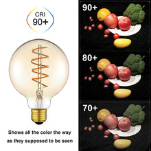 Load image into Gallery viewer, Vintage Glass LED Edison Bulb with Flexible Filament 4W - Warm White