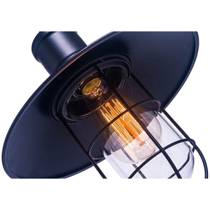 Pendant Light with Cage Lamp Shade