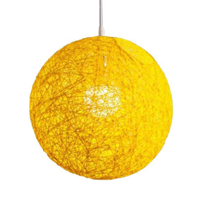 Yellow E27 Base Pendant Lamp