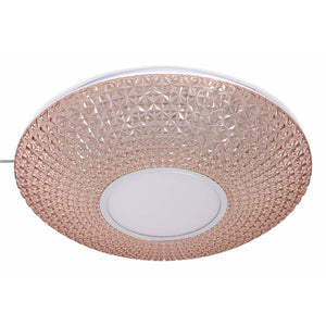 LED Rose Gold Decorative Ceiling Light with Acrylic Shade 2 in 1 Colour 20 watt-Starry Night