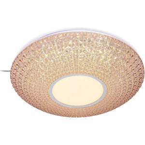 LED Rose Gold Decorative Ceiling Light with Acrylic Shade 2 in 1 Colour 20 watt
