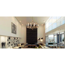 Load image into Gallery viewer, Gold Chandelier With Black Arms - 12 Light