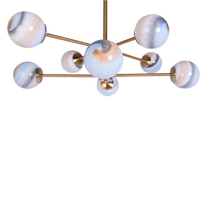 8 Marble Glass Modern Chandelier-Starry Night