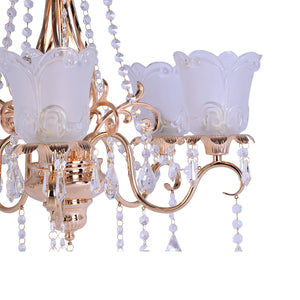Classic Crystal Glam Chandelier - 5 Light-Starry Night