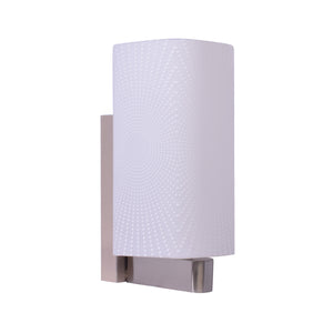 White Glass Wall Light With Pattern-Starry Night