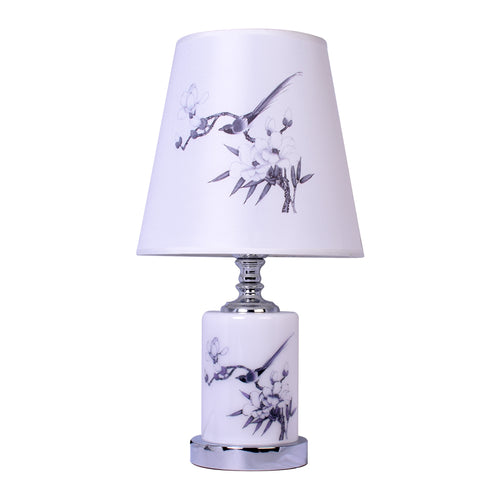 Round Table Lamp With Birds Print-Starry Night