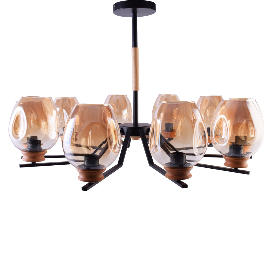Modern Chandelier 10 Lights with Glass Shades-Starry Night