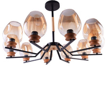 Load image into Gallery viewer, Modern Chandelier 10 Lights with Glass Shades-Starry Night