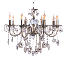 Load image into Gallery viewer, Silver Chandelier With Crystals - 8 Lights-Starry Night