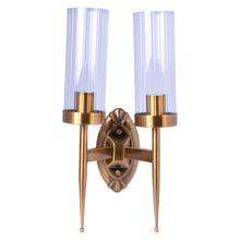 Load image into Gallery viewer, Bronze Wall Light With Wave Glass - 2 Light-Starry Night