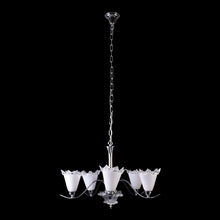 Load image into Gallery viewer, White Crystal Chandelier - 5 Lights-Starry Night