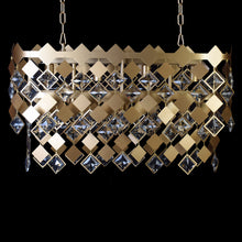 Load image into Gallery viewer, Modern Matt Gold Dining Chandelier With Crystals