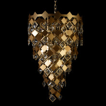 Load image into Gallery viewer, Modern Matt Gold Chandelier With Crystals - 500 mm-Starry Night