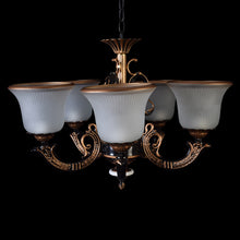 Load image into Gallery viewer, Brown Mini Chandelier - 5 Lights