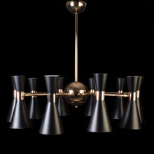 Load image into Gallery viewer, Urban Chandelier Black With Gold - 10 Lights